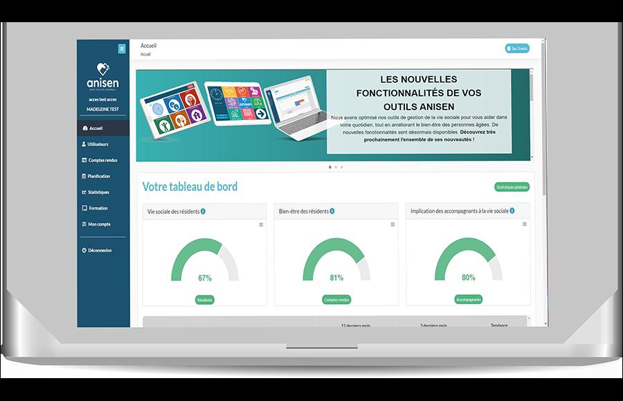 Site de gestion - Logiciel de vie Sociale et animation Ehpad
