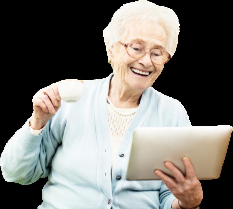 Photo de présentation personne âgée anisen